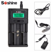 Intelligent Charger Soshine H2 SC-H2 LCD Universal Charger for Li-ion/LiFePO4 26650 18650 NiMH C AA AAA(China)