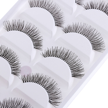 5 Pairs/set Natural Black Long Sparse Cross Eye Lashes Extension Makeup Beauty False Eyelashes(China)