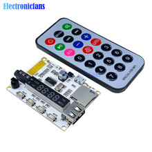 Wireless LED Digital Bluetooth Decoder Board Audio Sound Module With Infrared Remote Controller For Car MP3 FM TF Micro SD Card(China)