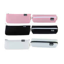1 PC Simple Style Multi-function Large Capacity Pencil Case Leather Bag Pen Bag Pouch Pen Box Kids Stationery School Supplies(China)