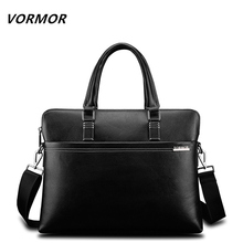VORMOR Men Fashion Shoulder Bags Male Casual Briefcase Leather Messenger Bag Computer Laptop Handbag Quality Men's Travel Bags