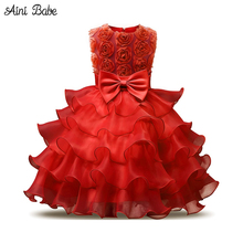 Aini Babe Prom Party Ball Gown Children's Costume Kids Clothes Dresses for Girls Princess Party dresses for Birthday 3 4 5 6 7