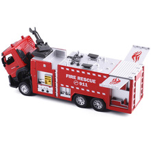 Diecast 1:32 Water Fire Engine Car Toy Fire Rescue Truck Models Metal Alloy Collectible Kids Toys For Children