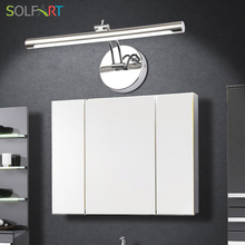 SOLFART lamp sconce wall lights bathroom lighting mirrors modern led sconce wall lights mirror cabinet Mirror front lamp 5890-7(China)