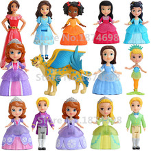 Sofia The First Elena of Avalor Princess Sofia Amber Prince James Oona Mermaid Hildegard Fashion PVC Figure Doll Toy Girls Gifts