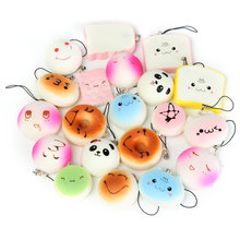 20Pcs Jumbo/Medium/Mini Cute Mobile Phone Straps Random Soft Panda/Bread/Cake/Buns Phone Straps Cool Boy Girl Gift Chain