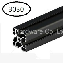 Black Aluminum Profile Aluminum Extrusion Profile 3030 30*30 commonly used in assembling device frame, table and display stand