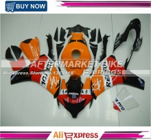 Free Shipping Repsol Decal Oranage Fairing Bodywork For Honda 2008-2011 CBR1000RR 08-11 CBR1000 RR Motorbike Parts