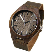 Walnut Wooden Wristwatches  Japanese Movement    For Men  Women Classical Luxury Brand Watch With Gift Box Friendly Environment
