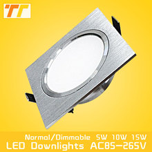 LED Ceiling Lamp satin silver Cold/Warm White Epistar Recessed Cabinet light Downlight AC 230V 110V For Home Lighting Decoration(China)