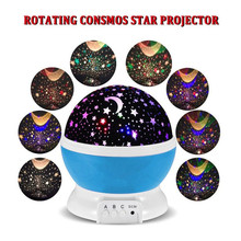 Oobest Rotating Night Light Projector Spin Starry Sky Star Master Children Kids Baby Sleep Romantic Led USB Lamp Projection