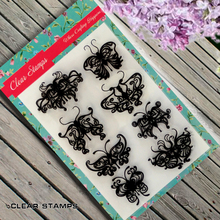 Many butterflies Scrapbook DIY photo album card hand account chapters rubber product transparent seal stamp