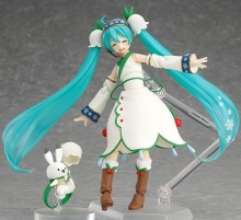 New hot sale anime figure toy CRYPTON FUTURE MEDIA Hatsune Snow Miku Winter Miku 13CM gift for children free shipping