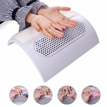 Salon Nail Art Tool Suction Nail Dust Collector Machine Vacuum Cleaner Strong Fan Hand-rest UV Gel Nail Dryer Tool 220V/110V