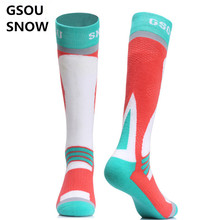 Gsou Snow Men Women Cotton Bicycle Stockings Breathable Super Warm Outdoor Sports Stockings Skiing Snowboarding Stockiing