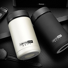 Coffee Boy 400ml Businee Men thermos for tea stainless steel vacuum flasks 24 hours Portable thermoses thermo mug thermocup(China)