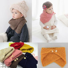Unisex Autumn Winter Baby Toddler Crochet Knit Scarf Shawl Cape Cloak Warm Knitted Scarf Boys Girls 0-4 Years Christmas Gifts(China)