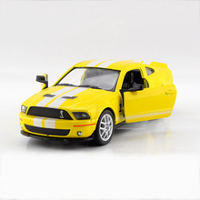 Mustang Shelby GT500 SVT Yellow 1/38 alloy model car Sports car Diecast Metal Pull Back Car Toy For Gift Collection(China)