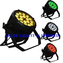 LEEDE LIGHTING china equipment 18x18w waterproof pars CE & ROHS 6 in 1 IP65 par64  (16pcs/lot )(China)