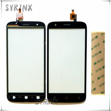 Syrinx With 3M Sticker Touch Screen Digitizer Panel Front Glass For Ulefone U007 Mobile Phone Touchscreen Sensor Free Shipping(China)