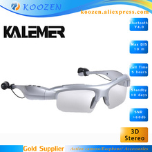 Original wireless KALEMER Bluetooth earphone headset polarized sunglasses glasses 3d HD stereo for iphone/Samsung/android phone