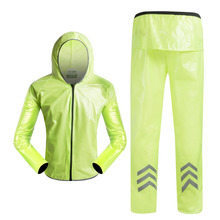 Brand Design Handsome Bike Jacket Bicycle Pants Outdoor Cycling Raincoat Jerseys Road MTB Rainproof Cycling Rain Jackets Set Men