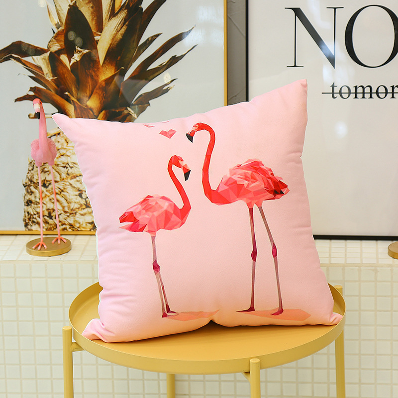 Cute Flamingo Cushion Pillow Case Flamingo Party Bedroom Sofa Home Decoration accessories Birthday/Wedding Favors and Gifts 10