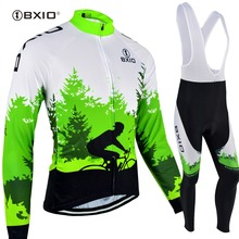 BXIO Winter Fleece Cycling Jerseys For Men Raiders Jersey Outdoor Cycling Sets Clothing Funny Pro Team Ropa Ciclismo 118(China)