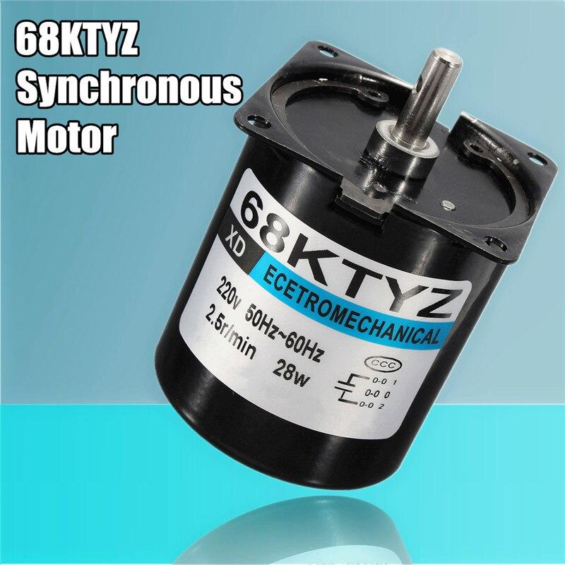 High Quality 68KTYZ Micro Gear Motor AC 220V 28W 2.5r/min Large Torque Permanent Magnet Synchronous Gear Motor<br>
