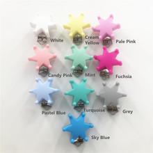 Chenkai 10pcs Silicone Star Baby Dummy Teether Pacifier Chain Clips DIY Craft Baby Soother Nursing Accessories Holder Clips(China)