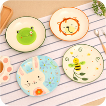 creative hand-painted ceramic household  cartoon vegetable salad dessert plate of the breakfast procelain tableware supplier