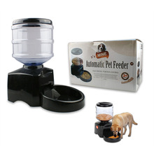 5.5L Automatic Pet Feeder Voice Message Recording  LCD Screen Programmable Timer Food Station Dispenser Container for  Animal