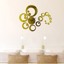 Mirror Wall Stickers Round Clock Shape Wall Sticker For Home Bedroom Office Decor Removable Decals