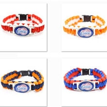 2017 New Basketball Bracelet Los Angeles Clippers Charm Braided Bracelet for Men Women Sport Bracelet Jewelry Gifts(China)