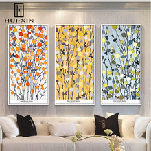 Nordic White Mandarin Orange Flowers Colorful Blue Flowers Warm Charming Wall Paintings Art Canvas Posters for Home Decoration(China)