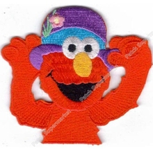 "3"" SESAME STREET ELMO PURPLE HAT patch Comics TV MOVIE series Costume Embroidered Emblem applique sew on iron on badge(China)"