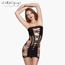 Buy Sexy Hot Women Lingerie Bodysuit Lenceria Dress Bodystocking Sexy Costumes Women Sexy Mini Dress Babydoll Erotic Fishnet qq145