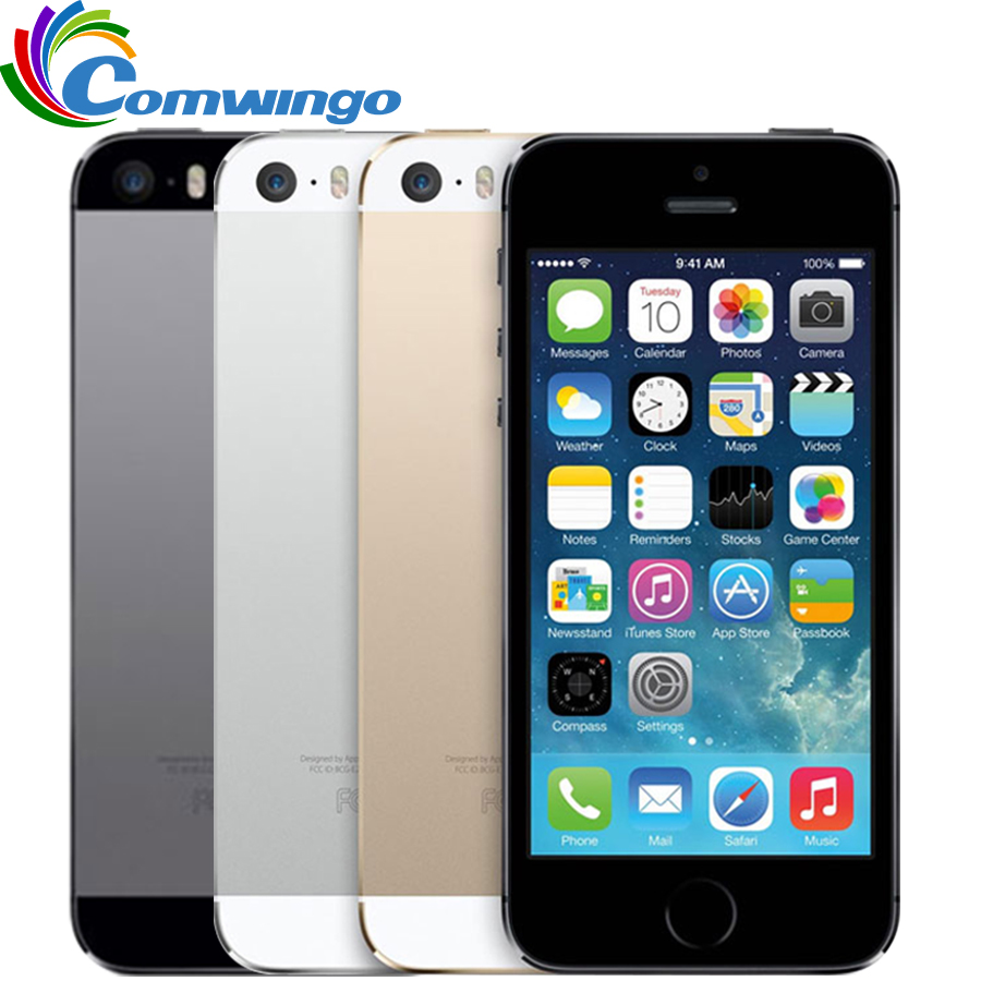 Original Unlocked Apple iphone 5S 16GB / 32GB ROM IOS iphone 5s White Black Gold GPS GPRS A7 IPS LTE Cell phone iPhone5s(China)