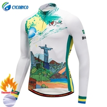 Cycobyco Winter Thermal Fleece Top Cycling Jersey Bike Maillot Ropa Ciclismo Long Sleeve Clothing USA,Italy,France,Brazil,Spain(China)