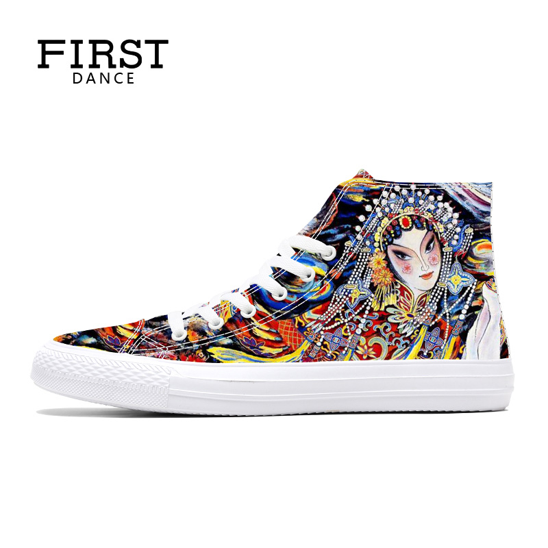Custom Santa Claus Mens Classic High Top Canvas Shoes Fashion Sneaker