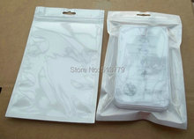 21x13cm ZipLock White Clear Plastic  Retail Packaging Bags, poly pp bag for Phone Phone case cover