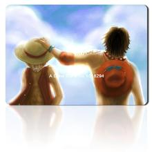 one piece mouse pad brother Luffy ace mousepad laptop anime mouse pad gear notbook computer gaming mouse pad gamer play mats(China)