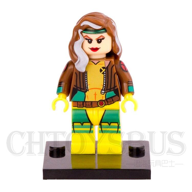 SingleSale X-MEN Apocalypse Rogue Anna Marie Magneto MARVEL SUPER HEROES Minifigures Assemble Model Building Blocks Kids Toys<br><br>Aliexpress