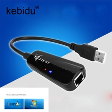 Kebidu USB Ethernet Adapter Usb 2.0 Network Card USB to Ethernet RJ45 Lan Gigabit Internet for Windows 7/8/10/XP USB Ethernet(China)