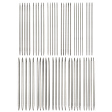 Durable 55pcs Double Pointed Knitting Needles Stainless Steel Home Yarn Sewing Needlecrafts Knit Tools(China)