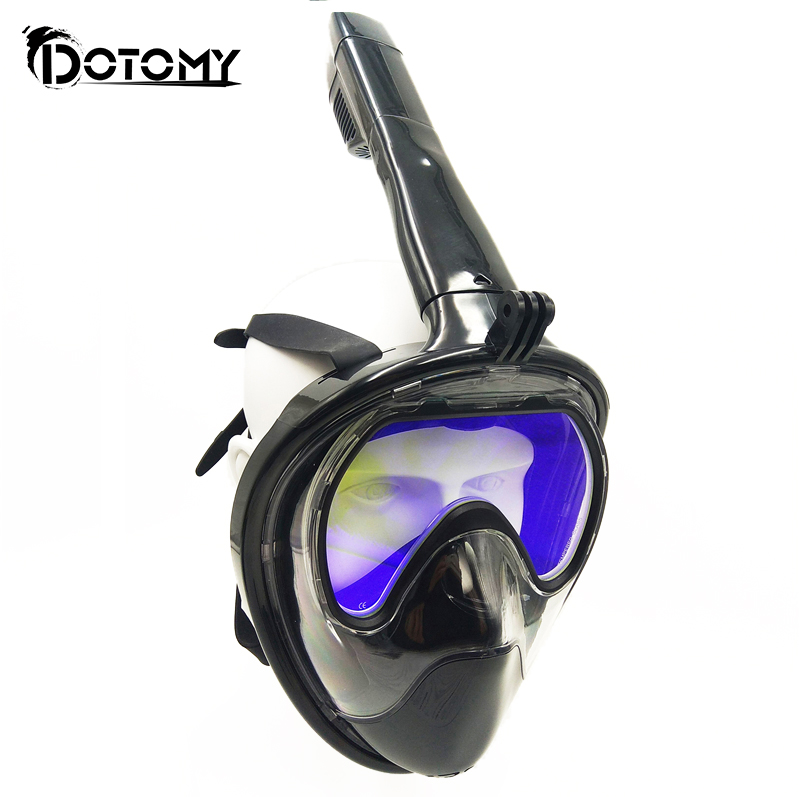 Scuba diving Mask Full Face Snorkeling Mask Underwater Anti-Fog tempered glass mask for Swimming spearfishing factory direct<br>
