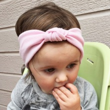 Naturalwell solid hairbands for Newborn girls Cotton hair wrap accessories elastic twist headdress best gift for kids HB443