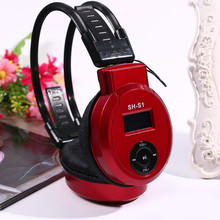 New Arrival On-ear Foldable Headphone Design MP3 Player Headset + FM Radio + TF Card Reader Earphone(China)