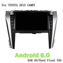 Android 6.0 Octa Core RAM 2G ROM 32G Car DVD Player Navigation 2 Din In Dash Car Radio Video GPS Navi For Toyota CAMRY 2015