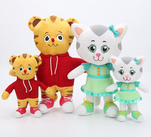 20cm/30cm Daniel Tiger's Neighborhood Tiger Katerina Cat Friends Plush Doll tiger stuffed Toys